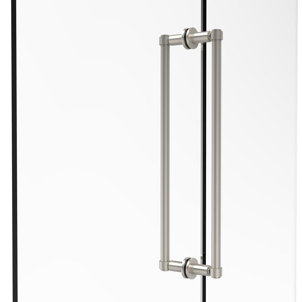 Contemporary 18 in. Back-to-Back Shower Door Pull in Polished Nickel