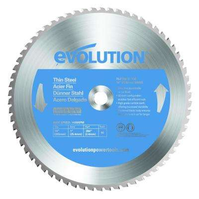 14 in. 90-Teeth Thin Steel Cutting Saw Blade