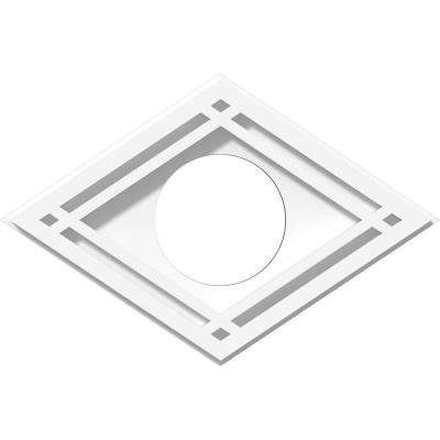 1 in. P X 10 in. W X 6-5/8 in. H X 3 in. ID Diamond Architectural Grade PVC Contemporary Ceiling Medallion