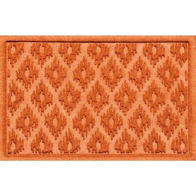 Ikat Orange 24 in. x 36 in. Polypropylene Door Mat