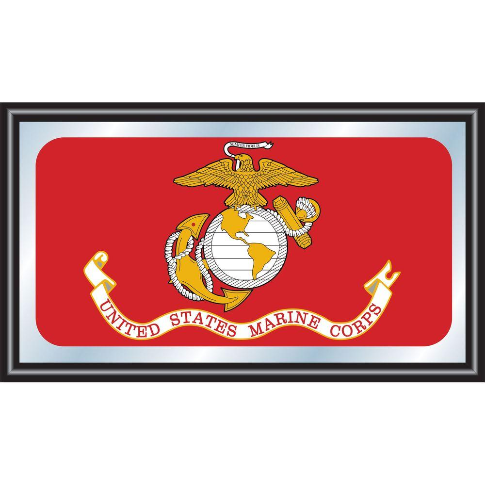 United States Marine Corps 15 in. x 26 in. Black Wood