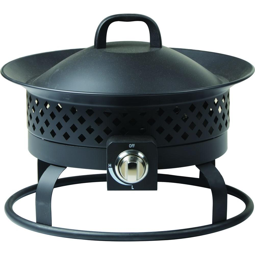 19 in. Wide Solara Stainless Steel Gas Bowl Fire Pit