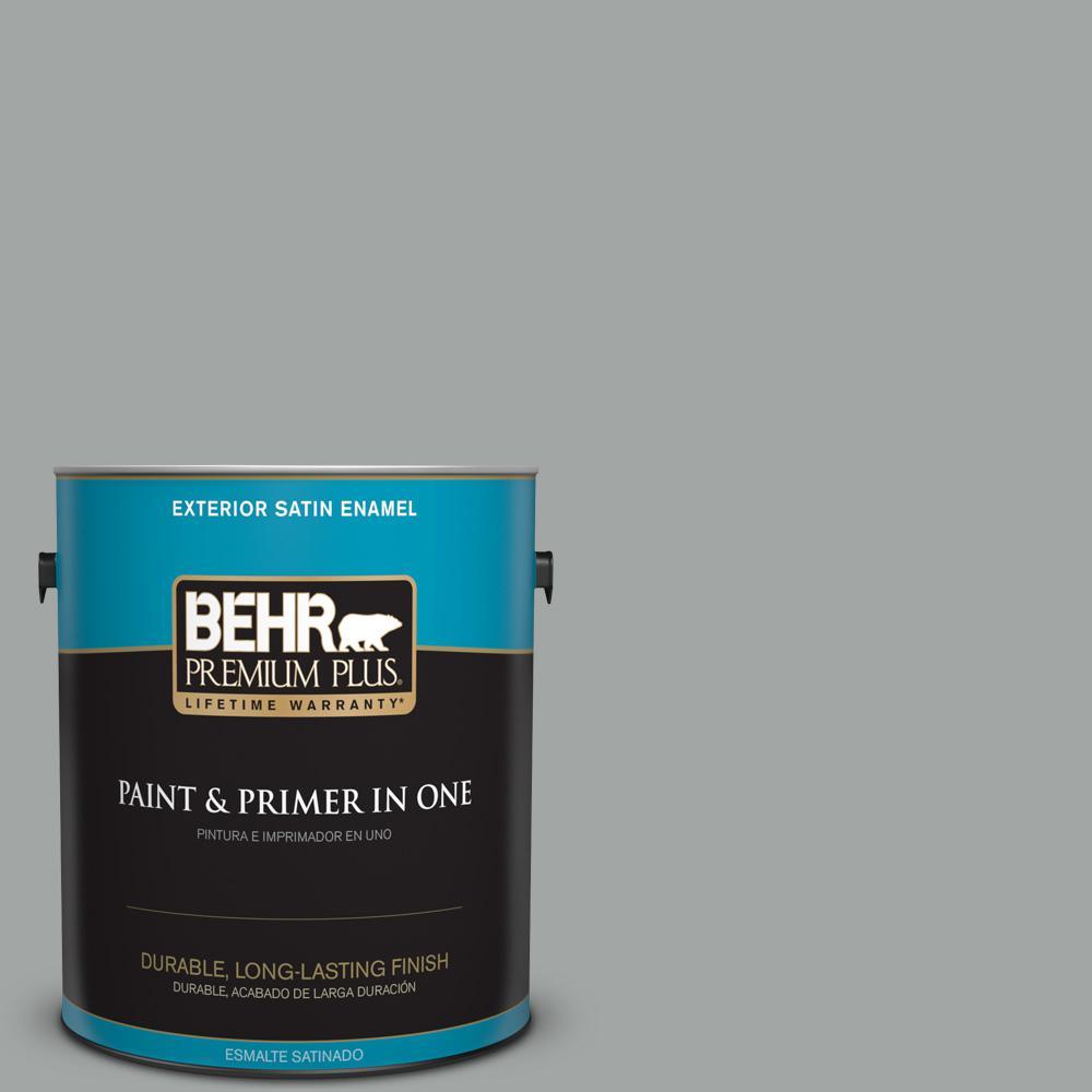 1 gal. #PPU25-04 Sharkskin Suit Satin Enamel Exterior Paint