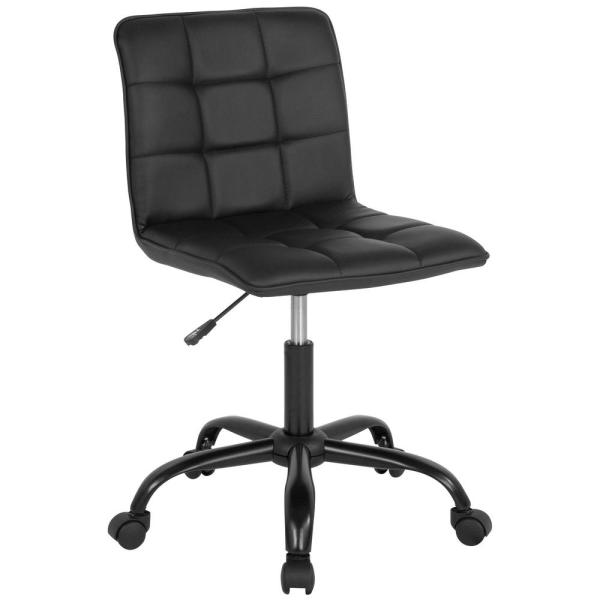 Flash Furniture Black Leather Office/Desk Chair CGA-DS-231621-BL-HD