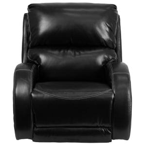 +2. Flash Furniture Contemporary Ty Black Leather Rocker Recliner