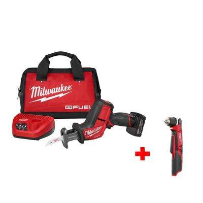 M12 FUEL 12-Volt Cordless HACKZALL Saw Kit with Free M12 3/8 in. Right Angle Drill (Tool-Only)