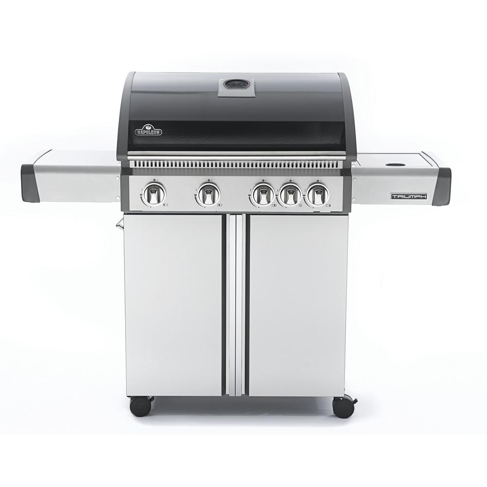 Triumph 495 5-Burner Propane Gas Grill in Black