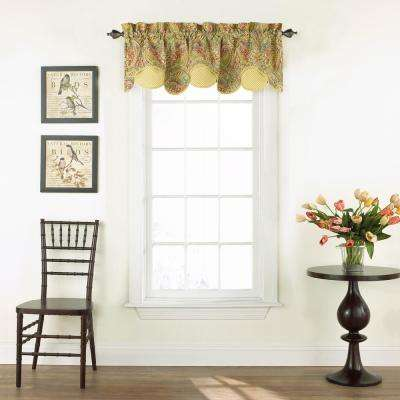 18 in. L Cotton Lined Window Valance in Berry