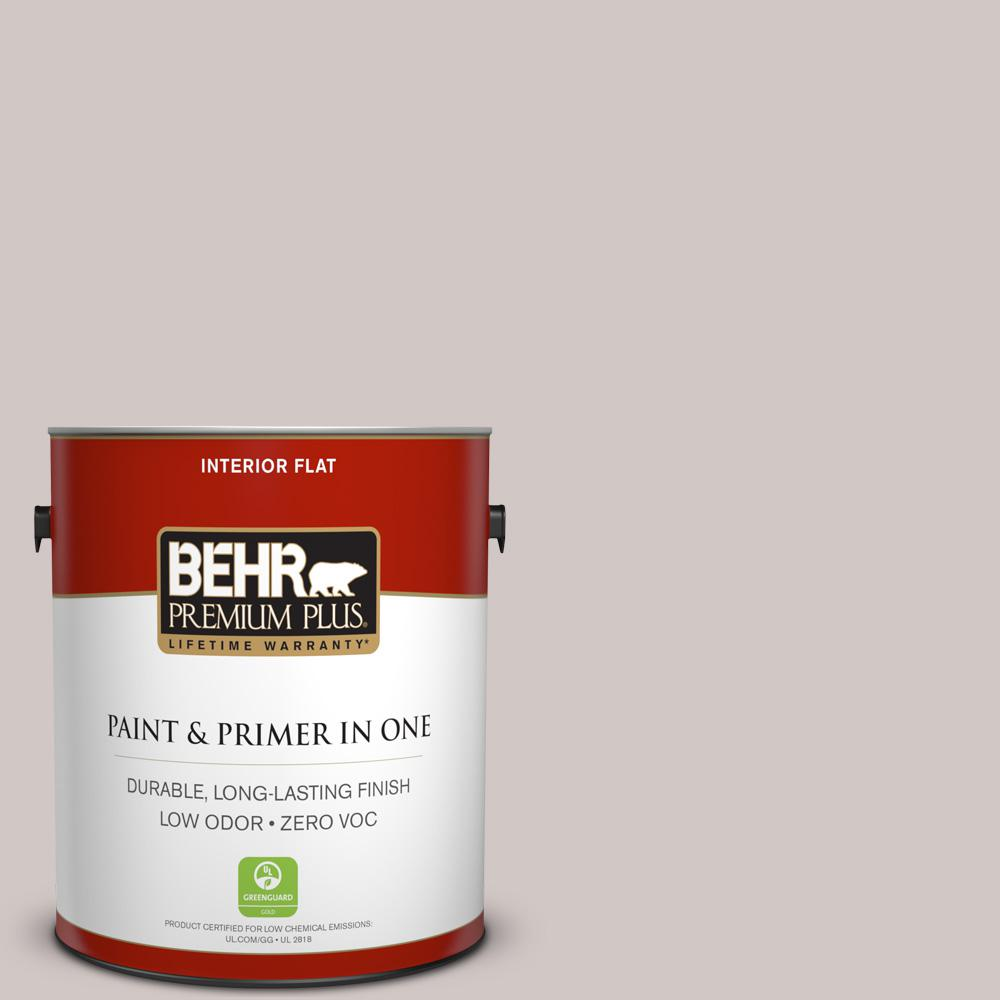 BEHR Premium Plus 1-gal. #730A-3 Lilac Tan Zero VOC Flat Interior Paint