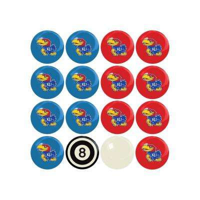 University Of Kansas Home Versus Away Billiard Ball Set