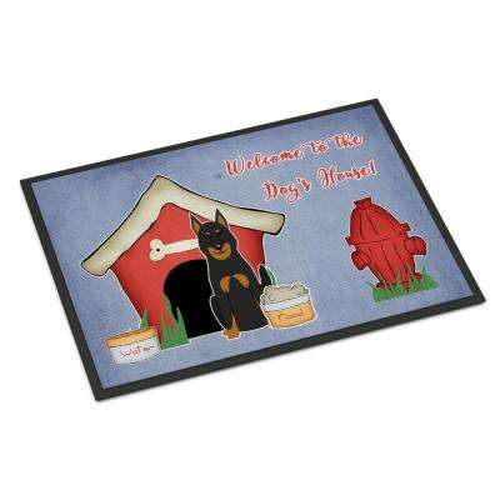 18 in. x 27 in. Indoor/Outdoor Dog House Collection Beauce Shepherd Dog Door Mat