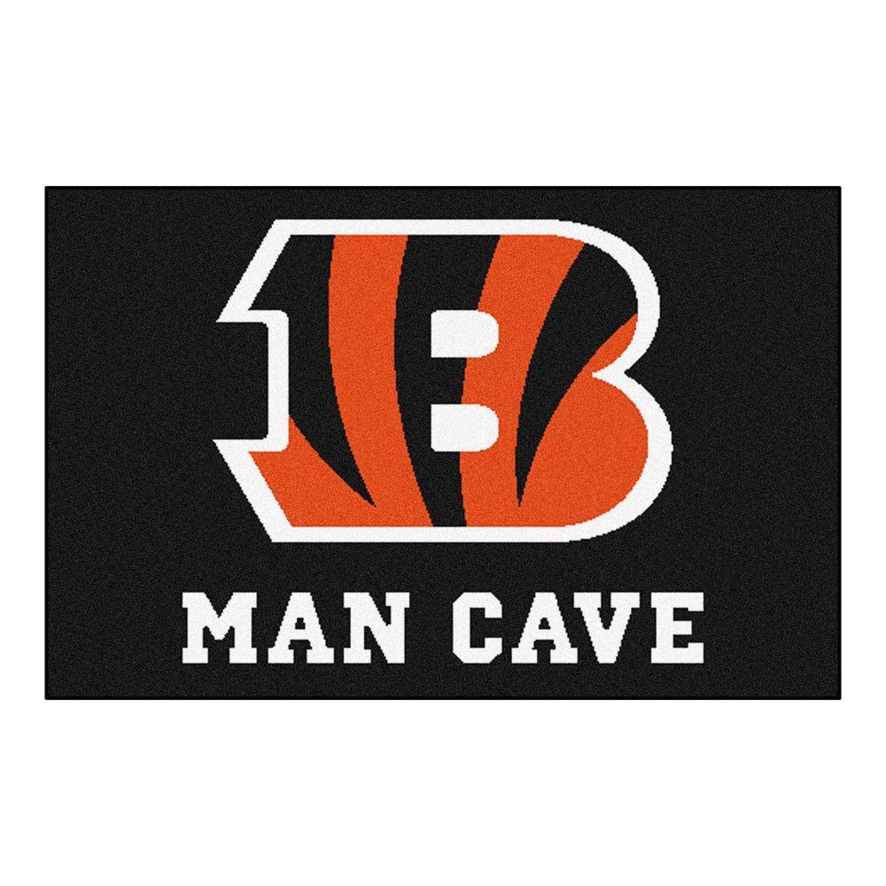 Man Cave Universal City : Fanmats nfl cincinnati bengals black man cave ft in