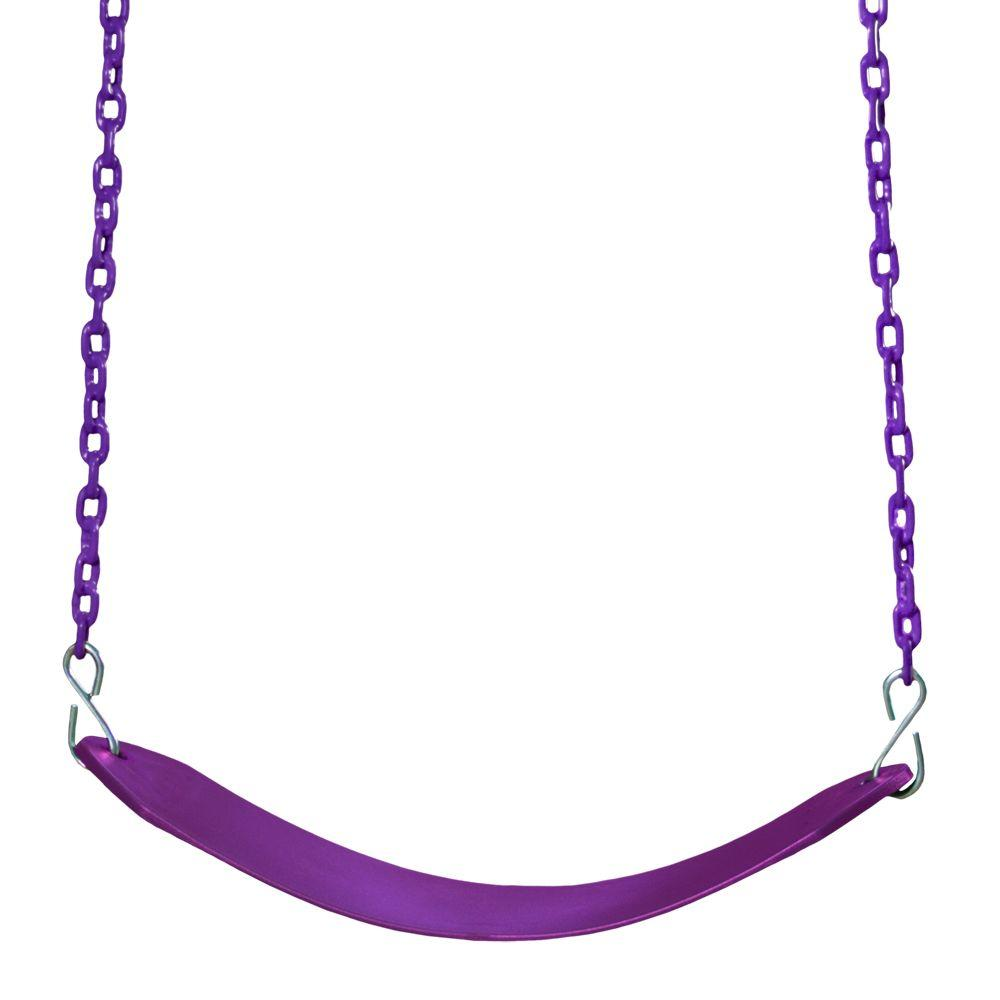 Plum Colored Deluxe Swing Belt and Chain