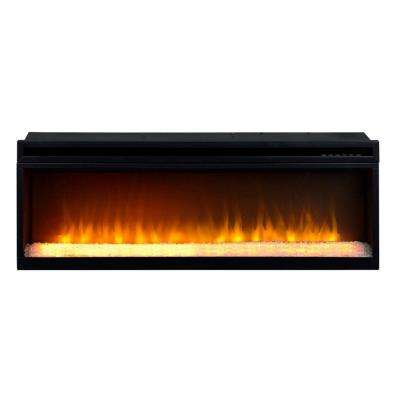 42 in. 1,500-Watt Electric Firebox Insert with Crushed Glass