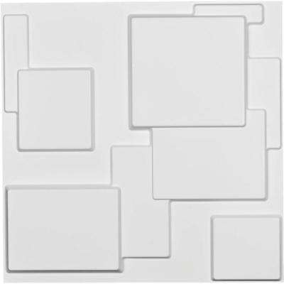 1 in. x 19-5/8 in. x 19-5/8 in. White PVC Gomez EnduraWall Decorative 3D Wall Panel