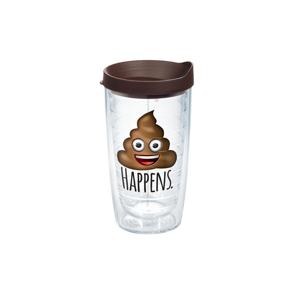 Tervis Emoji Hens 16 Oz Clear Tumbler With Lid 1232614 The Home Depot