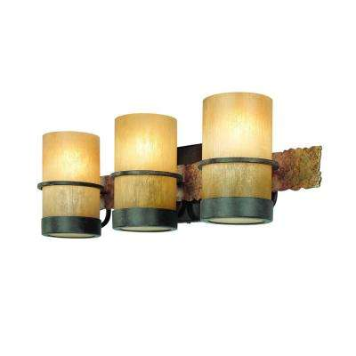 Bamboo 3-Light Bamboo Bronze Vanity Light