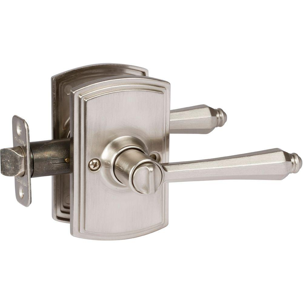 Italian Collection Florini Satin Nickel Bed/Bath Door Lever