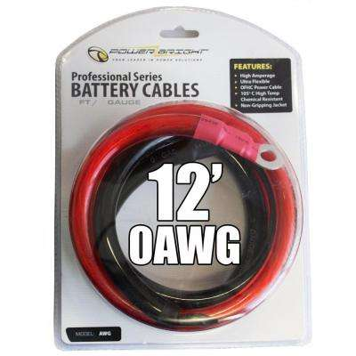 0 AWG Gauge 12 ft. Professional Cables Recommended for Use with Inverters up to 4000-Watt