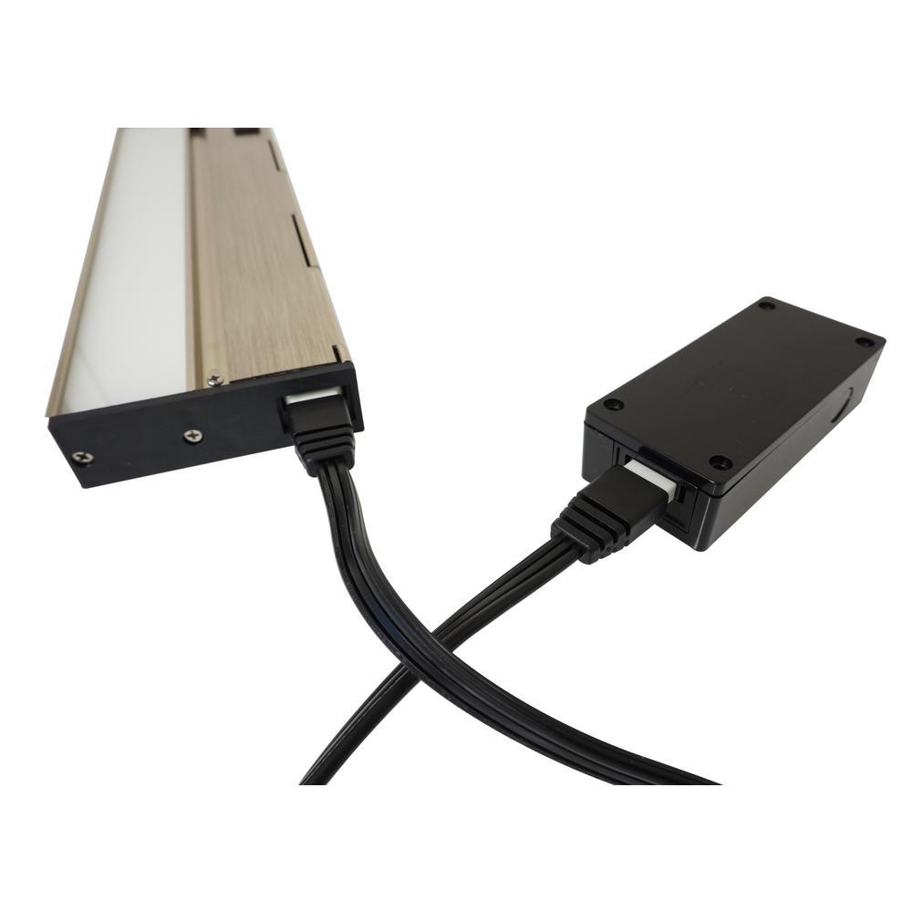NICOR Black J-Box for NUC-4 Linkable Undercabinet Lights