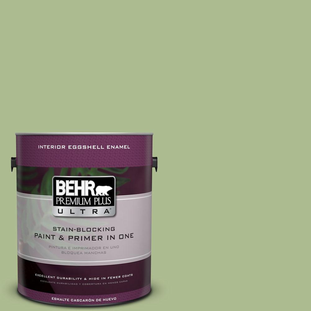 BEHR Premium Plus Ultra 1-gal. #M370-4 Chervil Leaves Eggshell Enamel Interior Paint