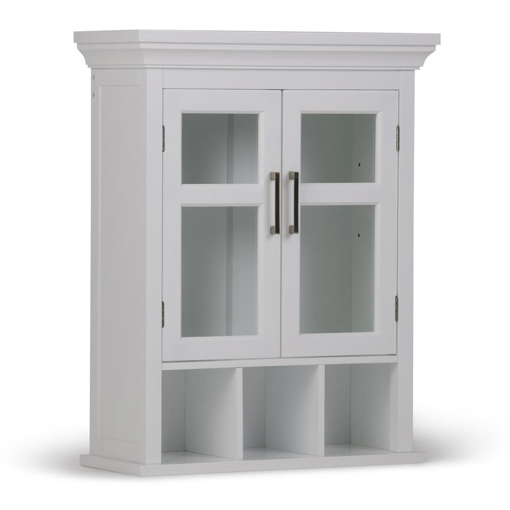 storage cabinets with glass doors simpli home avington 23 63 100 in w x 30 in h x 10 in d 26855