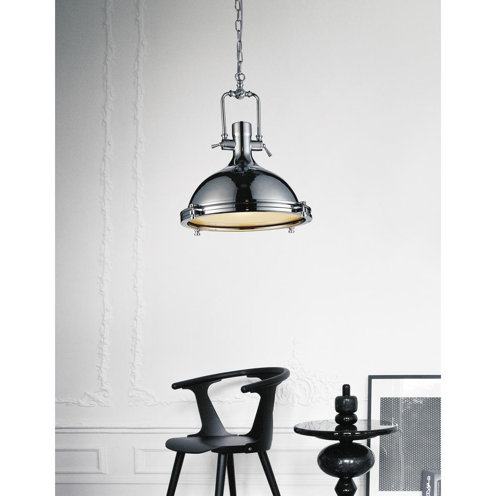 Show 1-light chrome chandelier