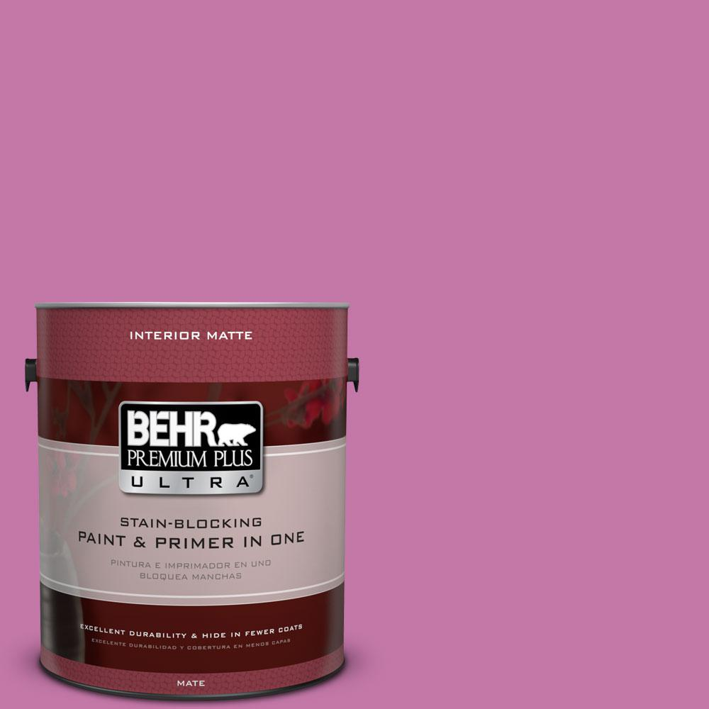 1 gal. #680B-5 Strawberry Freeze Matte Interior Paint and Primer in