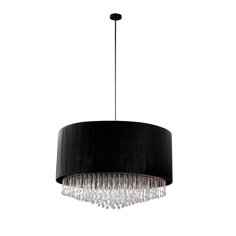 Eurofase Penchant Collection 6-Light Chrome and Black Pendant