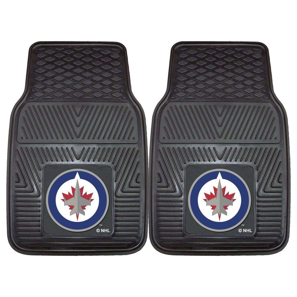 NHL Winnipeg Jets Heavy Duty 2-Piece 18 in. x 27 in. Vinyl Car Mat