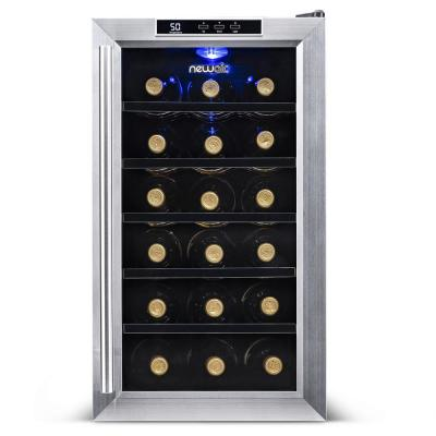 Premium Single Zone 18-Bottle Freestanding Cellar Thermoelectric Control Refrigerator Wine Cooler - Stainless Steel
