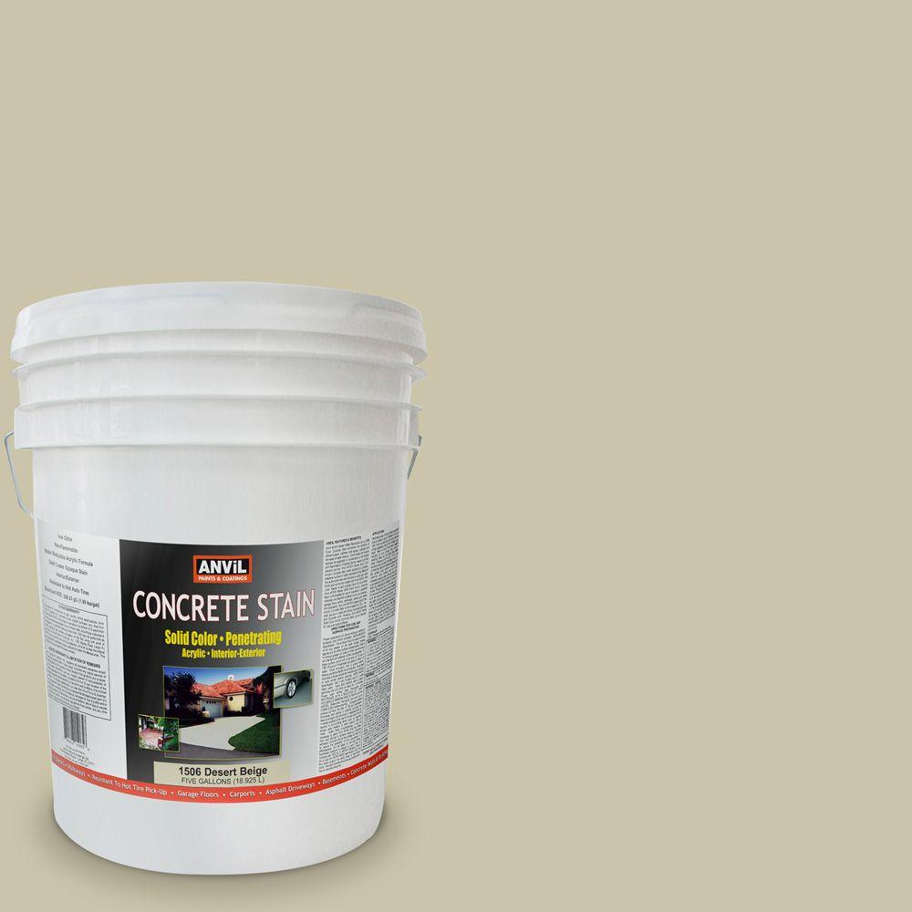 ANViL 5-gal. Desert Beige Acrylic Solid Color Interior/Exterior Concrete Stain-DISCONTINUED