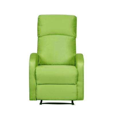 Modern Home Slim Design Microfiber Lime Green Recliner