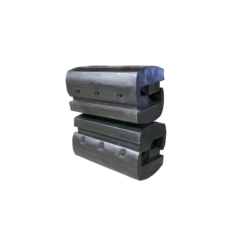 Techstar Plastics 48 in. x 24 in. x 16 in. Dock System Fl...