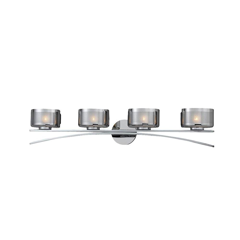 Itala 4-Light Chrome Bath Vanity Light