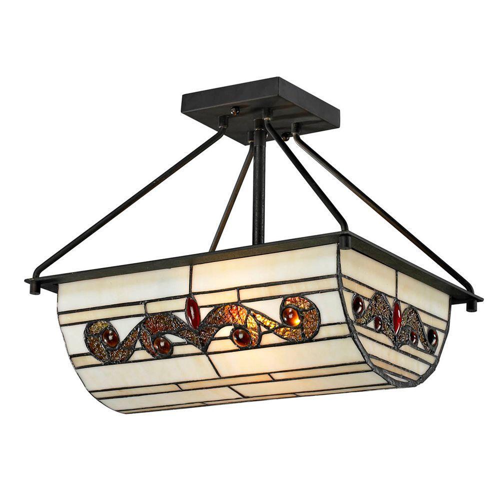 Cupertino ...  sc 1 st  The Home Depot & Dale Tiffany - Semi-Flushmount Lights - Lighting - The Home Depot azcodes.com