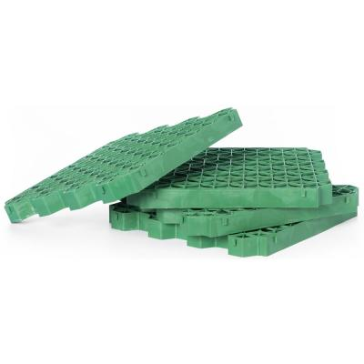 Green Plastic Permeable Grass and Gravel Pavers for Parking Lots, Driveways and RV Pads, Extra Thick Tiles (Set of 4)