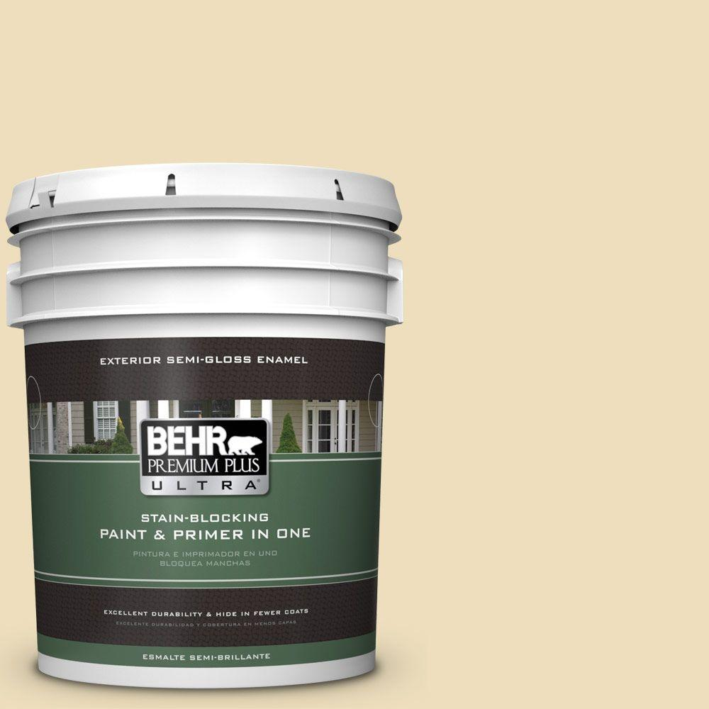 BEHR Premium Plus Ultra 5-gal. #380E-3 Satin Souffle Semi-Gloss Enamel Exterior Paint
