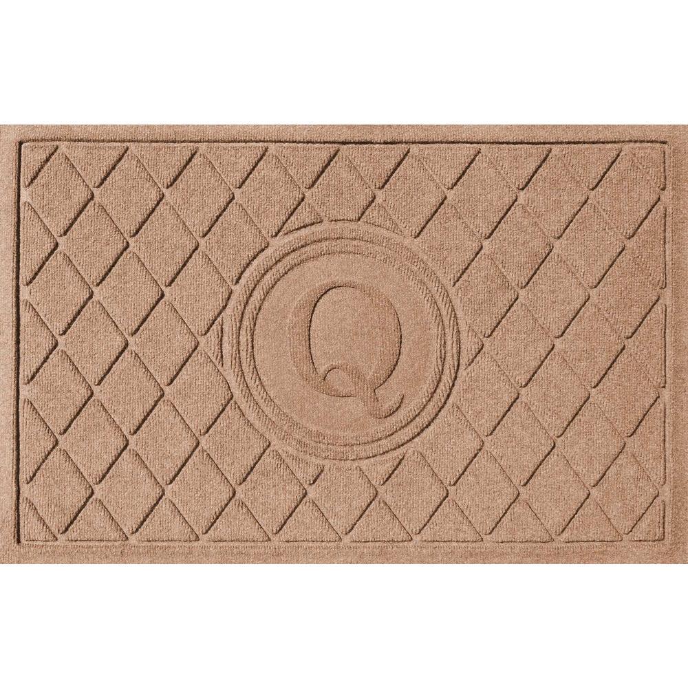 Argyle Medium Brown 24 in. x 36 in. Monogram Q Door