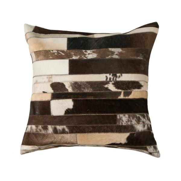 natural TORINO CLASSIC LARGE MADRID COWHIDE PILLOW 22'''' X 22""""