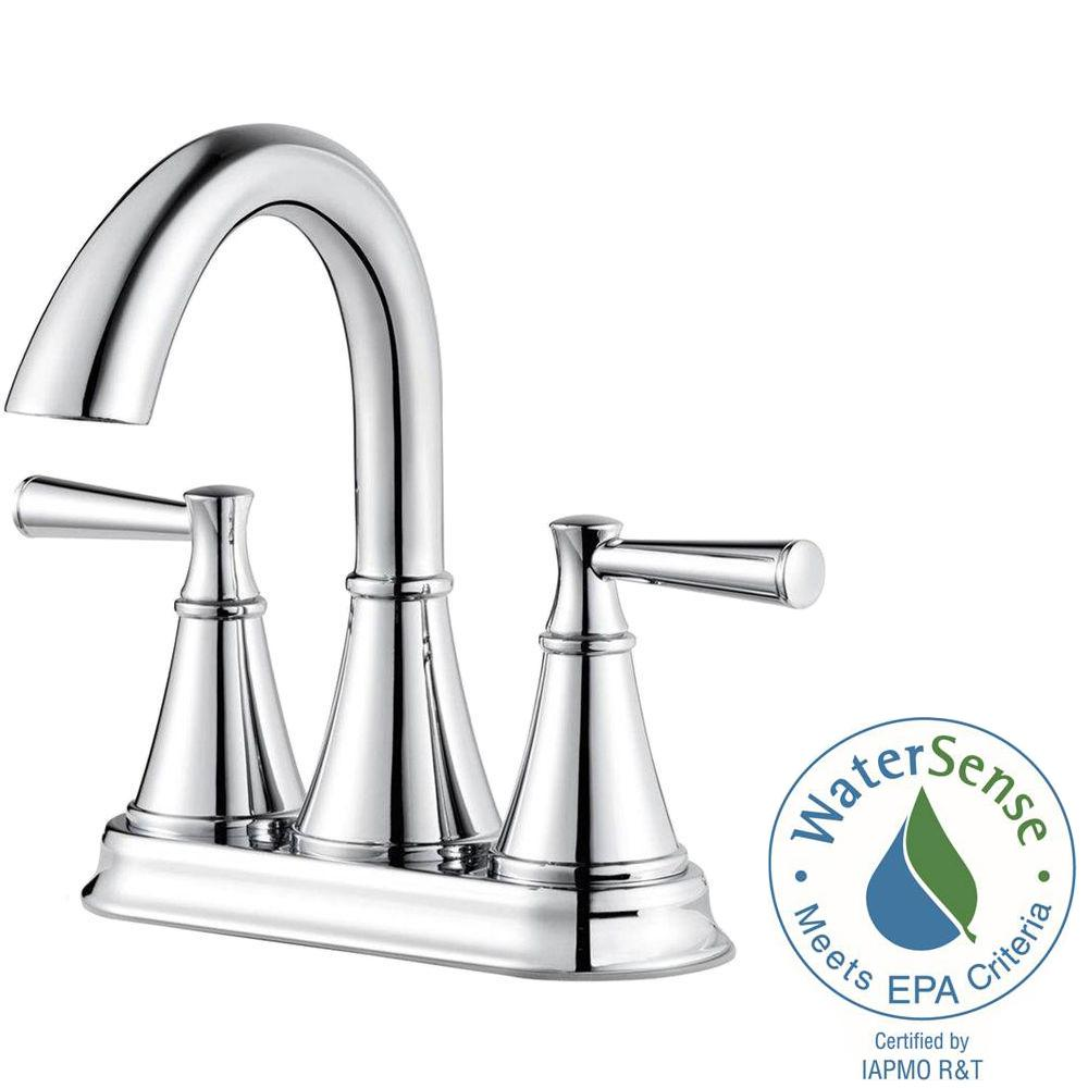 Pfister Cantara 4 In. Centerset 2 Handle Bathroom Faucet In Polished Chrome
