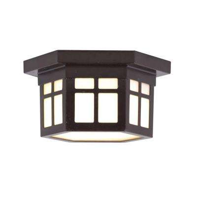 LED Outdoor Hanging Antique Bronze Flush Mount