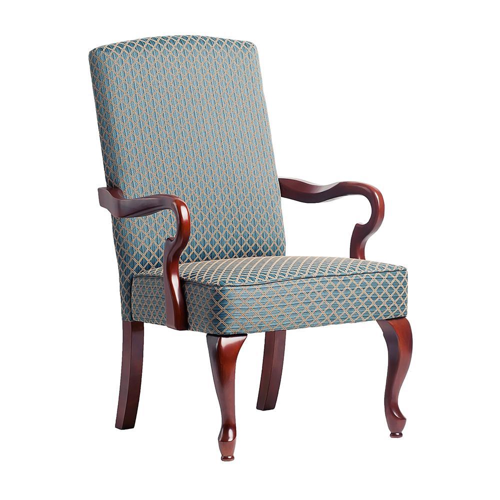 Derby Blue Gooseneck Arm Chair