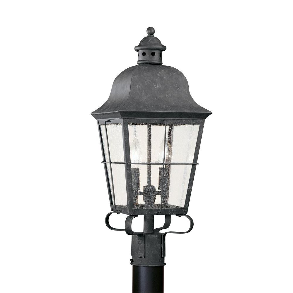Chatham 2-Light Outdoor Oxidized Bronze Post Top