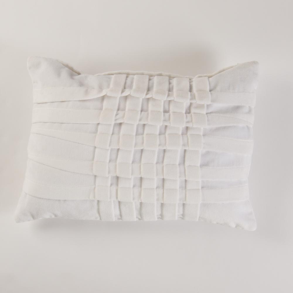 American Colors Brand Pinktuck White Velvet Pillow