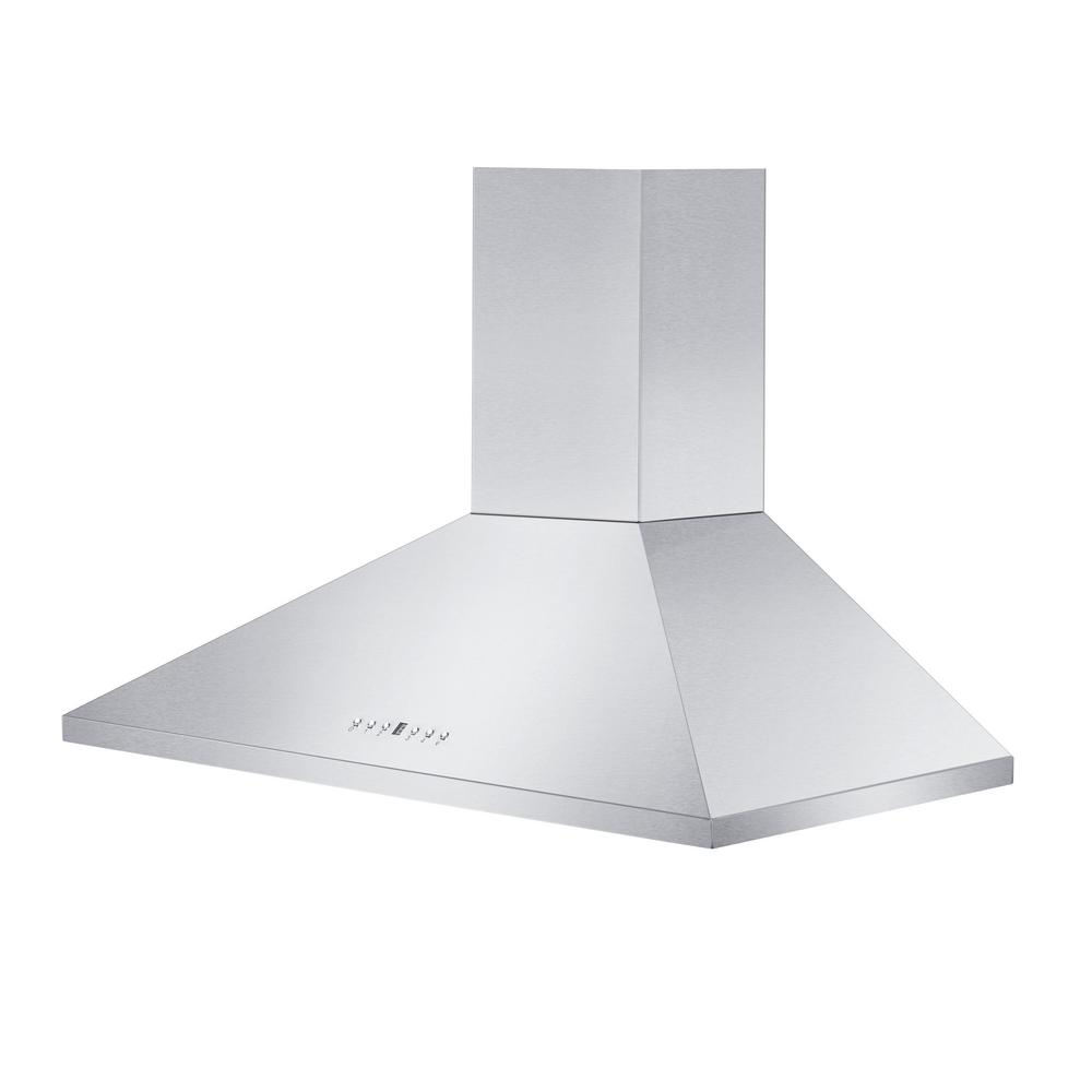 Zline Kitchen And Bath 48 In. 760 Cfm Convertible Wall Mount Range Hood In Stainless Steel, Brushed 430 Stainless Steel