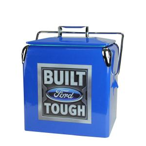 13 qt. Blue Stainless Steel Officially Licensed Built Ford Tough Cooler
