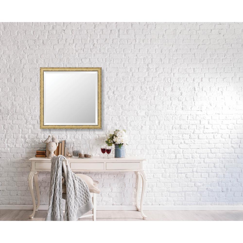 Winthrop 27.125 in. x 27.125 in. Vintage Petite Framed Bevel Mirror