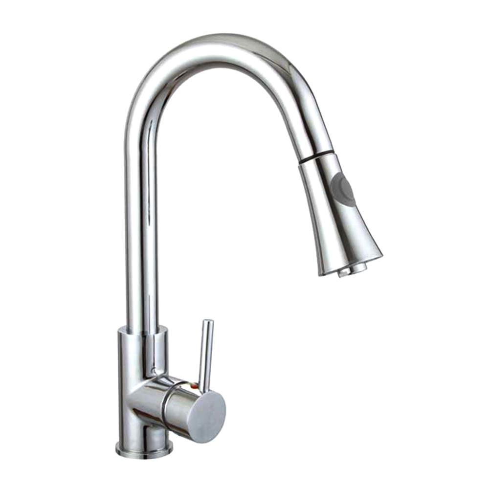 Vanity Art 9.06 in. Single-Handle Pull-Down Sprayer Kitchen Faucet in Chrome, Polished Chrome was $119.0 now $83.3 (30.0% off)