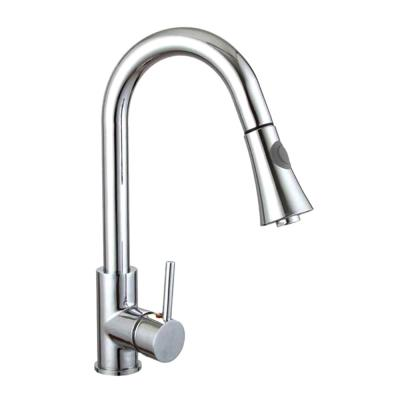 9.06 in. Single-Handle Pull-Down Sprayer Kitchen Faucet in Chrome